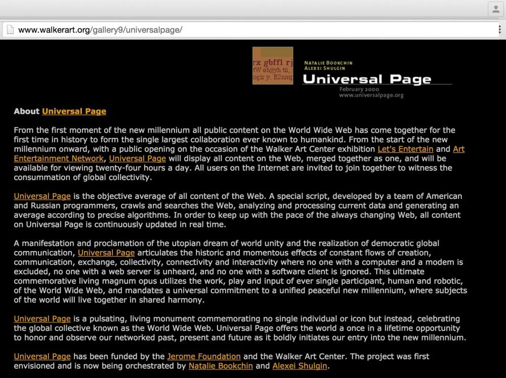 Universal Page